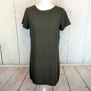Lulu's Dark Green Short Tunic Simple Sheath Dress